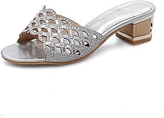 BalaMasa Womens Checkered Beaded Travel Urethane Athletic Sandals ASL05717