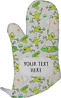 Polyester Oven Mitt Custom Frogs Seemless Pattern Adults Kitchen Mittens