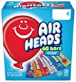 Airheads Candy Bars, Variety Stocking Stuffers Bulk Box, Chewy Full Size Fruit Taffy, Gifts, Back to School for Kids, Non Melting, Party 60 Count (Packaging May Vary), 60 Variety Airheads