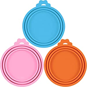 WOHENI Pet Food Lids, Silicone Can Covers for Dog Food Cans, Universal Can Lid Fits Most Standard Size Dog and Cat Can Tops, Can Lids