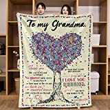 UFOORO Love Tree Throw to My Grandma Blanket from Granddaughter aniversity Gifts for her 60x80