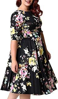SZ16-52 Angel/&Lily Colorblock Swing SEMI-Fitted Dress plus1x-10x
