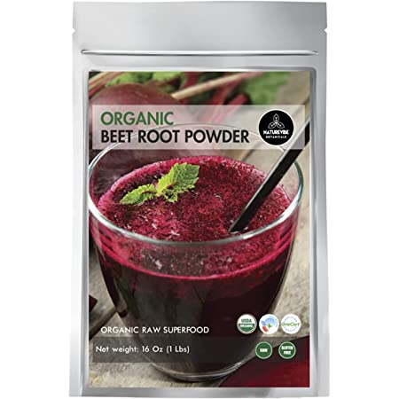 Organic Beet Root Powder (1 lb) by Naturevibe Botanicals, Raw & Non-GMO | Nitric Oxide Booster | Boost Stamina and Increases Energy [Packaging May Vary]