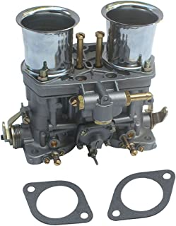 KIPA Carburetor For Weber 48 IDF 48mm With Air Horns OEM # 19030.015 19030018 19030.018 19030015 19030021 used on Porsche VW Jaguar Ford 351 Small Block Chevy's American V8 engines with Gaskets