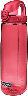 Nalgene On the Fly BPA-Free Water Bottle, Petal w Beet Red, 24 oz