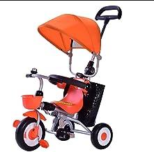 Jiji Sillas de Paseo 1-3 años de Edad, Triciclo de bebé Cochecito de bebé Plegable con Dosel Bolsa de Almacenamiento de Frenos Desmontable barandilla de Carro de bebé Cochecito de bebé (Color : A)