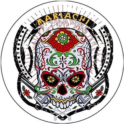 Slipmat Rutschmatte/Kratzmatte aus Filz für jeden 30,5 cm LP DJ Vinyl Plattenspieler Custom Graphical – Totenkopf Tattoo