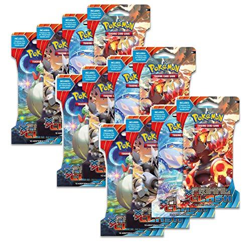 12 XY Primal Clash Sleeved Booster Packs Bundle | Pokemon TCG | Pokemon Cards