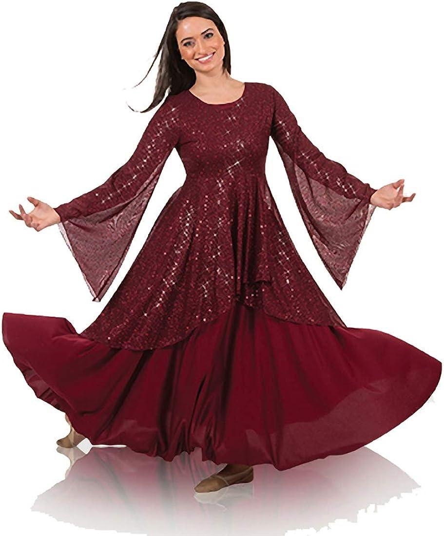 Body Wrappers Womens Twinkle Long Sleeve Tunic (TW662XX)