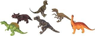 Smartcraft Mini Dinosaur Figure Toys 4 Inch - Pack of 6, Dinosaur Playset T-Rex, Spinosaurus, Allosaurus, Indoraptor, Brachiosaurus, and Triceratops ,Realistically Detailed Animal Action Figures