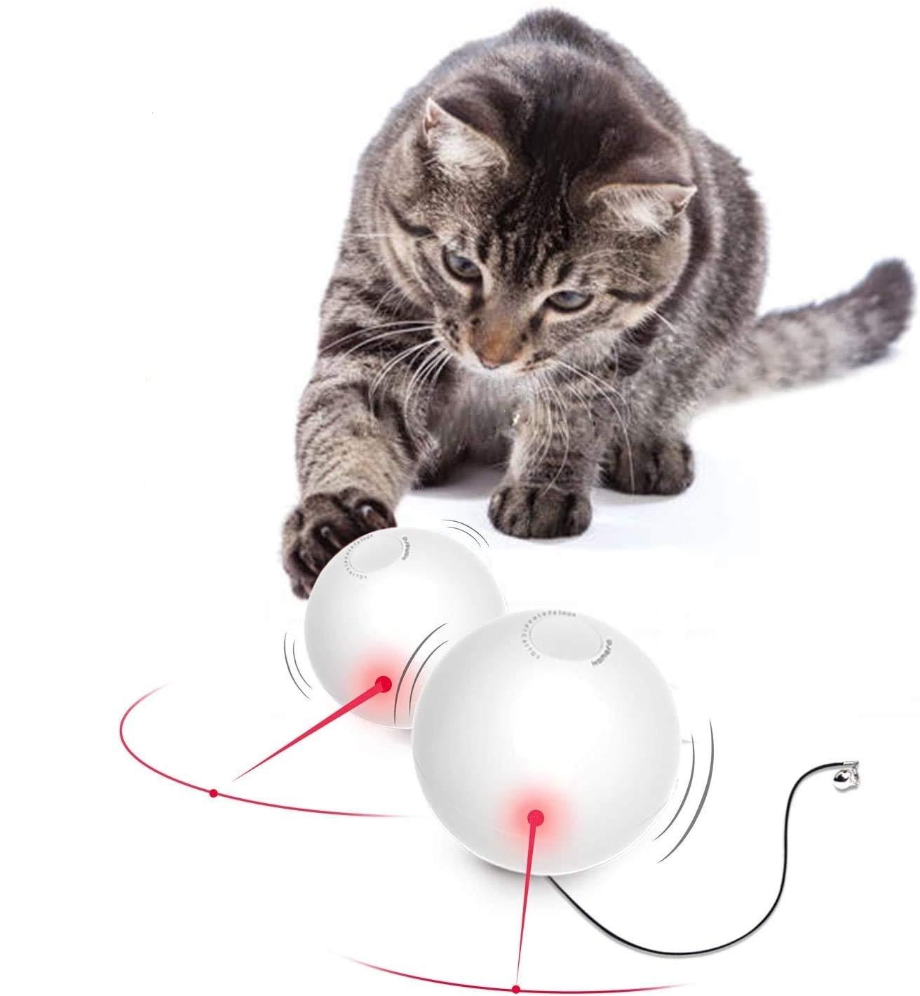 HAPPY HACHI Juguetes Gatos Pelotas Interactivos con Campanilla Luz LED Bola Gato Juguete Gatito Entretenimiento 360 Grados Giratoria Automática Apagado Automático (Baterias Incluidas): Amazon.es: Productos para mascotas