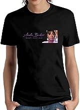 LIZHIJUN Women's Anita Baker Logo T Shirt Short Sleeve O Neck Tops Tee