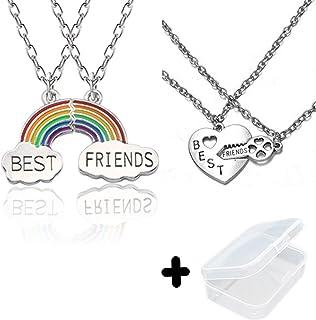 PPX 4 Nuvola Stitching Collana Migliori Amici, BFF Teenager per Sempre Il Regalo di Compleanno Amicizia Pz Arcobaleno,con ...