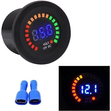 Yctze 12-24V Voltmetro digitale Amperometro Tensione Corrente Meter Display a LED rossi per auto moto barca