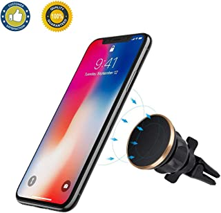 Universal Magnetic Car Phone Mount, Magnetic Phone Holder for Car Air Vent 360°Rotate Adjustable Compatible with iPhone Xs Max XR X 8 7 Plus Galaxy S9 S8 Plus Note 9 8 and More