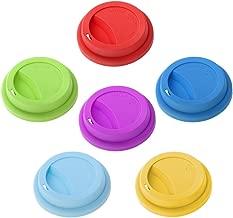 Rosa, Amarillo, Verde, Azul igadgitz Home Tapas para Pajilla Reutilizables de Viaje 100/% Silicona para Alimentos Sin BPA a prueba de derrames para la mayor/ía de copas y vasos Paquete de 4