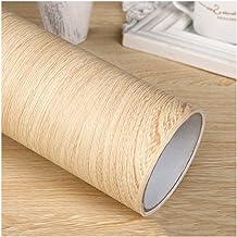 Wallpaper Wood-grain Wallpaper with Clear Texture, PVC Self-adhesive Wallpaper Roll, 5m/16.4ft, DIY Decorative Furniture/W...