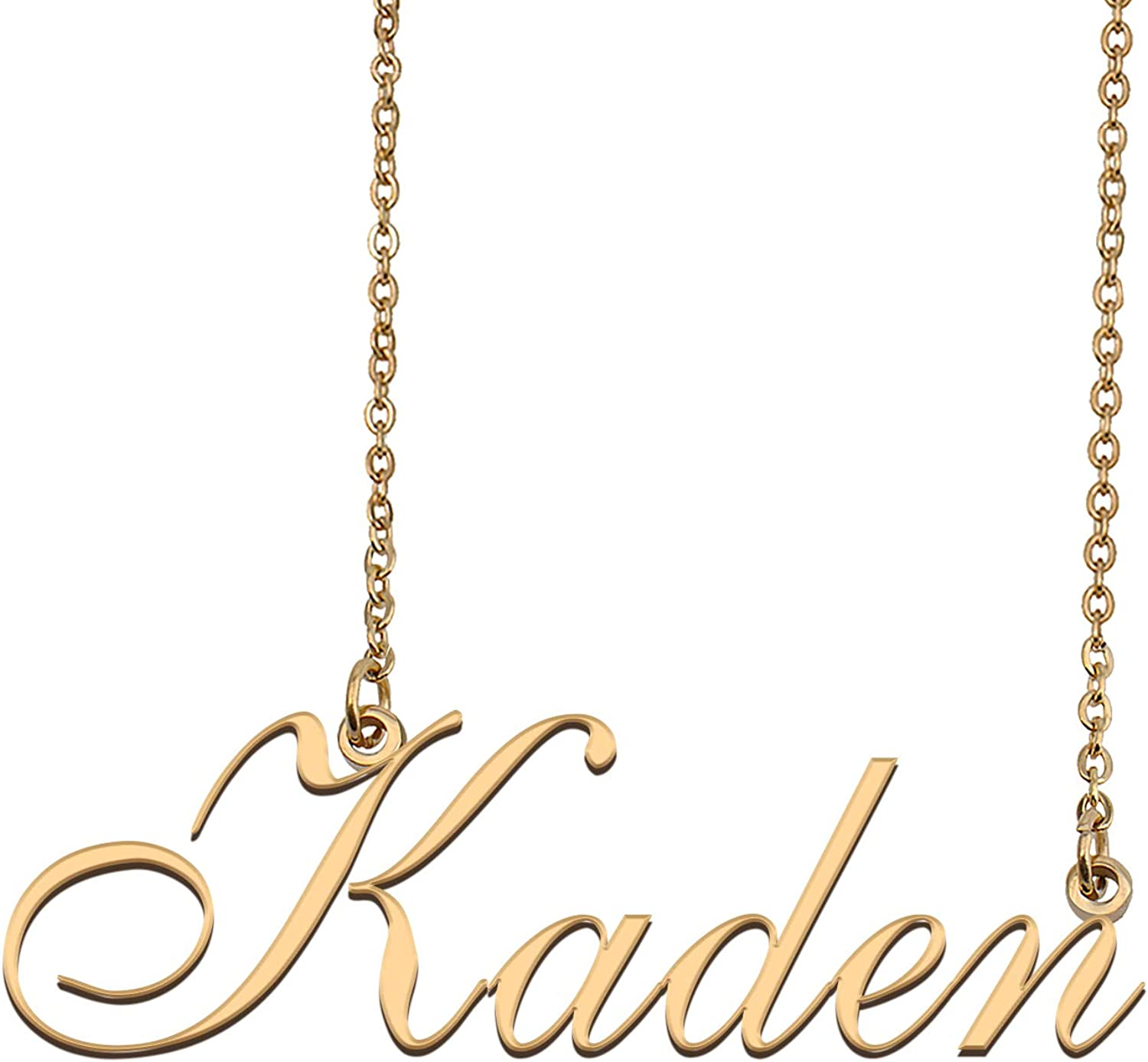 HUAN XUN Customized Ranking TOP6 Custom Beauty products Script Name for Women Necklace
