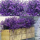 WILLBOND 12 Manojos Flores Arbustos Artificiales Plantas Flores Exteriores Resistentes a Rayos UV Arbustos Artificiales Decorativos para Decoración de Arreglo Floral, Centro de Mesa (Morado)