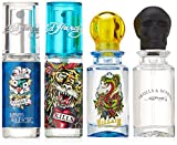 Ed Hardy Mini Set For Men (Hearts and Daggers, Love and Luck, Skulls and Roses, Villain)
