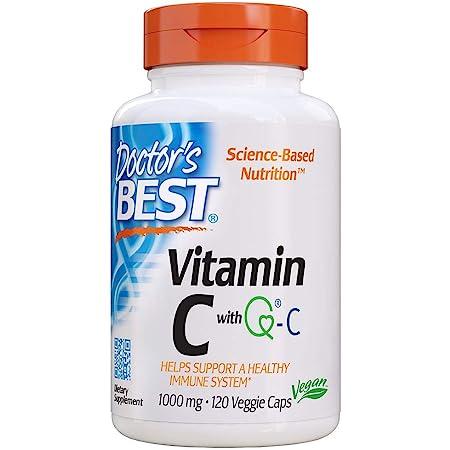 Doctor's Best, Vitamina C, con Quali-C, 1.000 mg, 120 Cápsulas veganas, sin soja, sin gluten