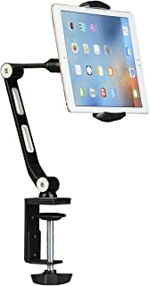 suptek Aluminum Tablet Desk Mount Stand 360° Flexible Cell Phone Holder for iPad, iPhone, Samsung, Asus and More 4.7-11 inch Devices, Good for Bed, Kitchen, Office (YF208B)