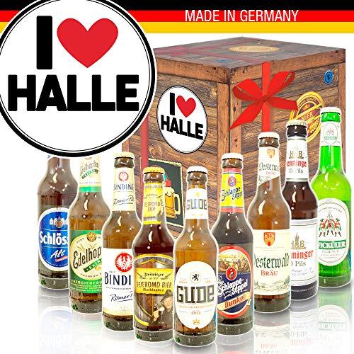 I love Halle/Biere aus Deutschland/tolle Geschenke Halle