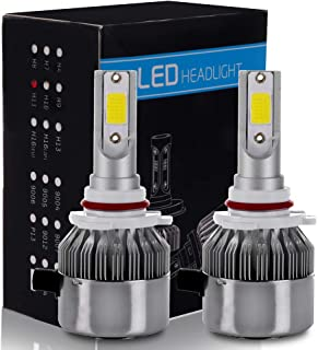 ECCPP 9005/HB3 LED Headlight Bulb Hi/Lo Beam White Fog Lights Conversion Kit - 80W 6000K 10400Lm - 3 Year Warranty(Pack of 2)