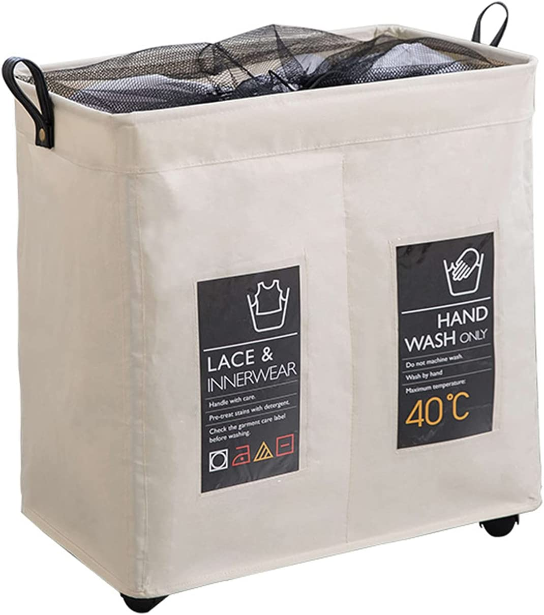 PMH Double Compartment Foldable Laundry Mesa Mall Award-winning store Oxford Cloth Me Basket