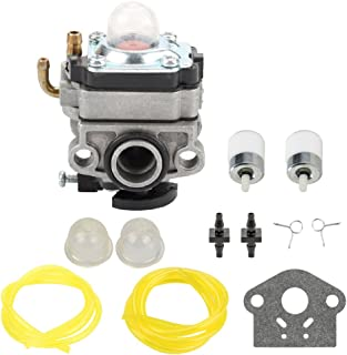 Panari 753-1225 Carburetor with Fuel Line Filter for MTD Troy Bilt TB415CS TB425CS TB465SS TB475SS TB490BC Trimmer Ryobi 650r 825r 825RA 875r 890 890r Yard Man YM21SS YM26SS YM26BC Brush Cutter