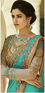 Beautiful lady embroidered Rangoli silk saree