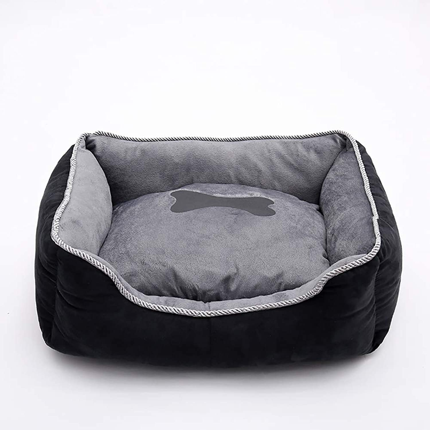Dog Bed,Super Soft Pet Sofa Cats Bed,Pet Self Warming Beds Plush Rectangle Nest Puppy Sleeping Bag Cushion,Removable Washable NonSlip Waterproof,A,44×35×19cm