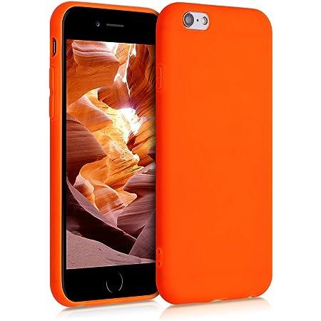 kwmobile Cover per Apple iPhone 6 / 6S - Cover Custodia in Silicone TPU - Backcover Protezione Posteriore- Arancione Fluorescente