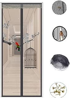 Magnetic Screen Door, Mosquito Door with Heavy Duty Mesh Curtain Patio Door for Keep Bugs Fly Out, Gray,28x80in/70x200CM