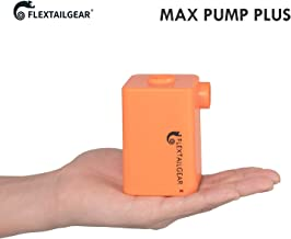 FLEXTAILGEAR - MAX Pump Plus Portable Air Pump with 3600mAh Battery USB Rechargeable Lightest Air Pump to Quick Inflate Deflate for Pool Floats Air Bed Air Mattress Swimming Ring (Orange)