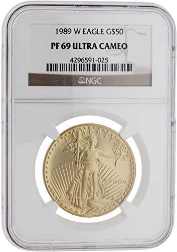 1 oz Goldmünze USA  American Eagle  1989 Polierte Platte NGC Certified MS-69