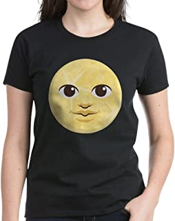 CafePress Yellow Moon Emoji Womens Cotton T-Shirt