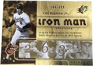 2007 SPx Iron Man #IM16 Cal Ripken Jr. /699 Baltimore Orioles