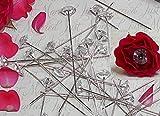 55 Perlennadeln Nadeln mit Strasssteindiamanten 10mm Rosennadeln