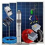 Kit Completo Bombeo Solar 550W 3/4cv - Caudal max. 3.200l/h Altura 54mts