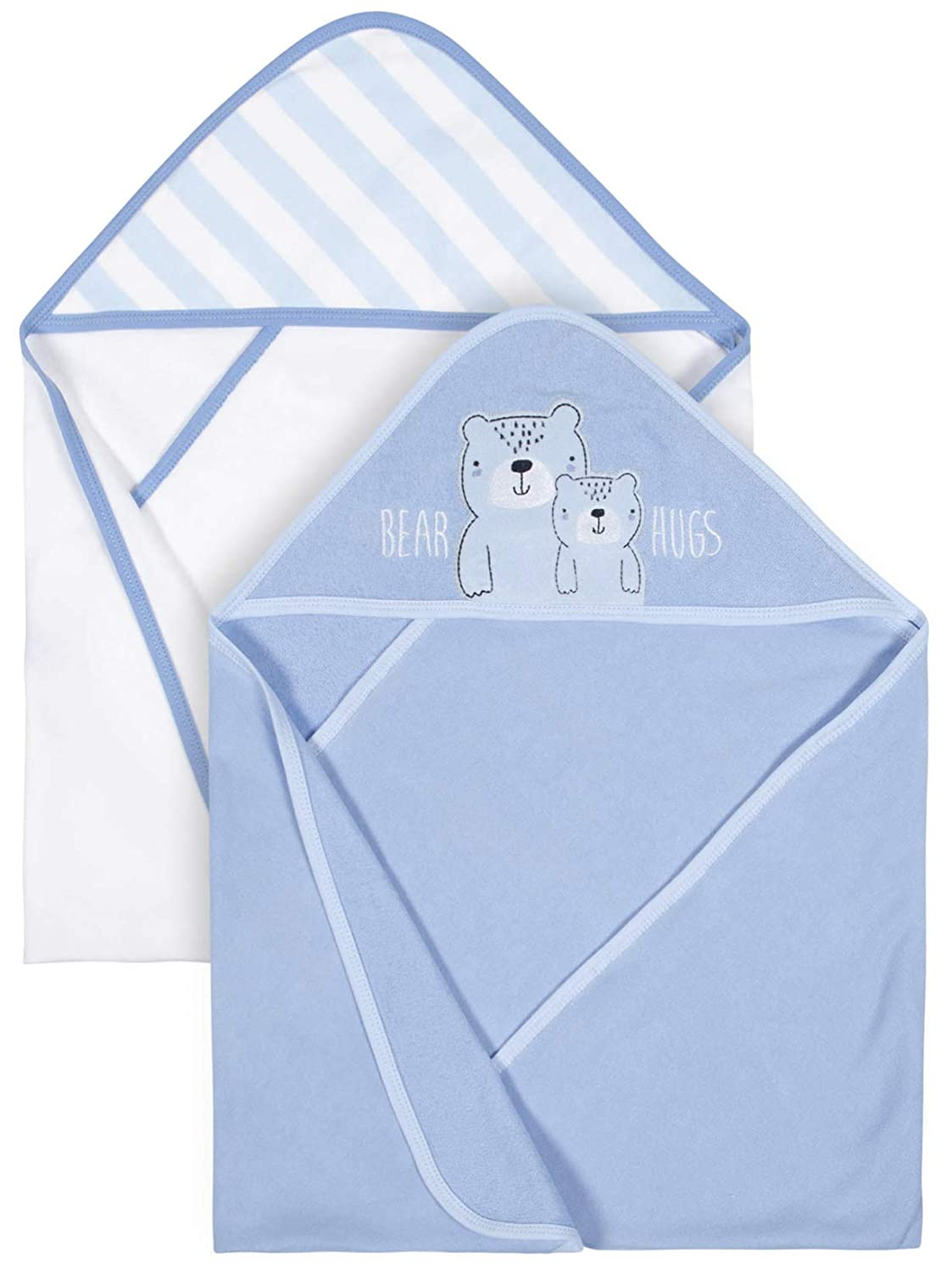 Organic Cotton Terry Hooded Towels, 2pk (Baby Boy)