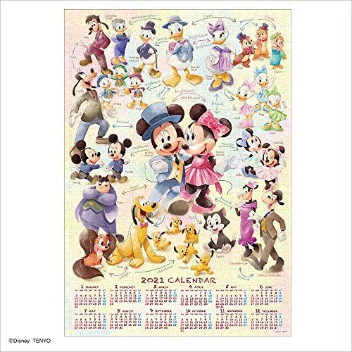 1000ピース ジグソーパズル ディズニー Mickey&Friends(2021年カレンダージグソーパズル) (51x73.5cm)