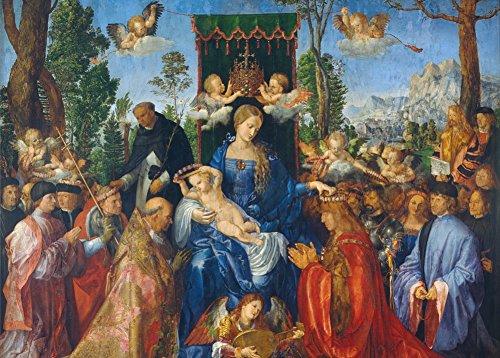 World of Art Albrecht Dürer Fest der Rose, Girlanden, Detail, 1506. 250GSM, Hochglanz, A3, vervielfältigtes Poster