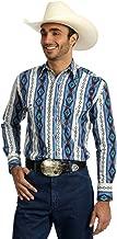 Wrangler Men's Grey Checotah Aztec Print Long Sleeve Western Shirt - Mc1247m