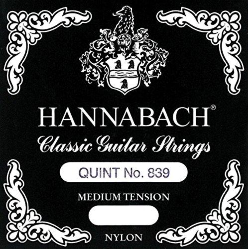 Hannabach 652827 Klassikgitarrensaiten (Quint-Gitarre) Satz 839MT für 4/4 Gitarre