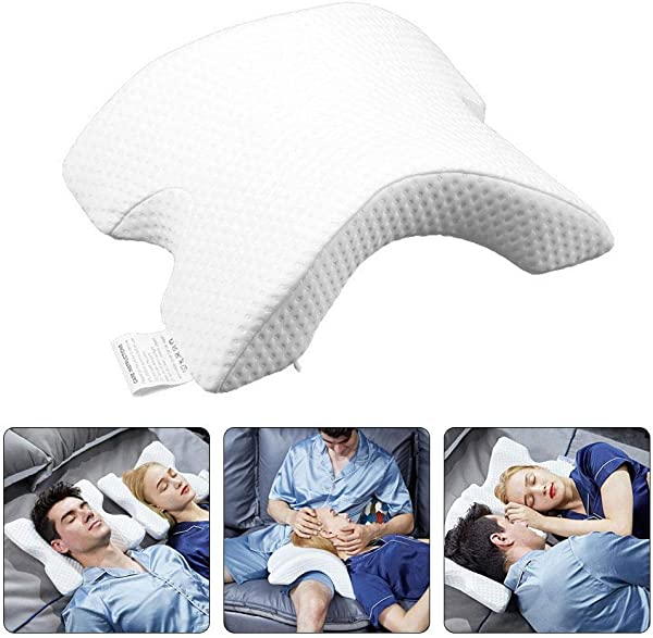 FOONEE Multifunction Memory Foam Arch Pillow Slow Rebound Ice Silk Couple Pillows Prevent Hand Numb Sleep Pressure Pillow For Neck Pain Or Side Sleeping