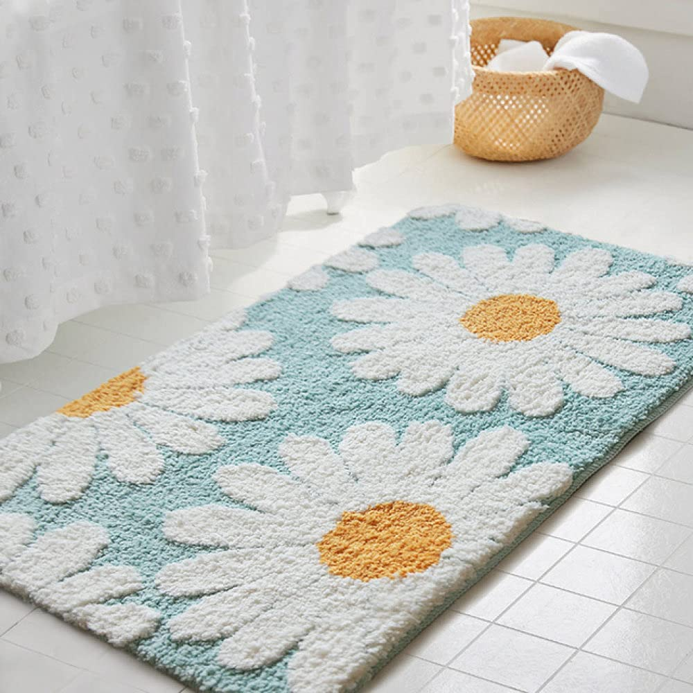 YHWW Bath mat Daisy Bathroom Mat Nordic Rug B Carpet Area Fluffy Challenge the Discount is also underway lowest price
