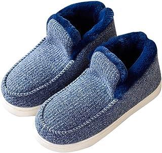 1d6e60fbd66c Navoku Men s Cozy Fuzzy Outdoor Booties House Indoor Boot Slippers