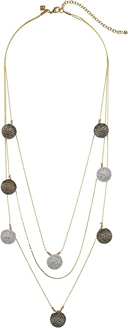 Rebecca Minkoff - High Shine Pompom Layered Necklace