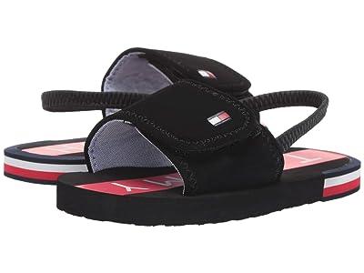 Tommy Hilfiger Kids Niko Slide (Toddler) (Black/Red) Kids Shoes